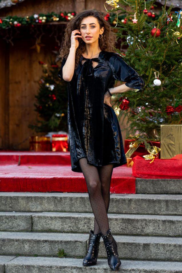 Sukienka Premium z weluru jedwabnego