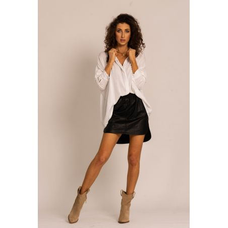 Leather Sofia Black skirt