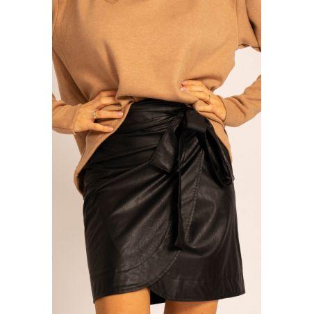 Carla Black leather skirt