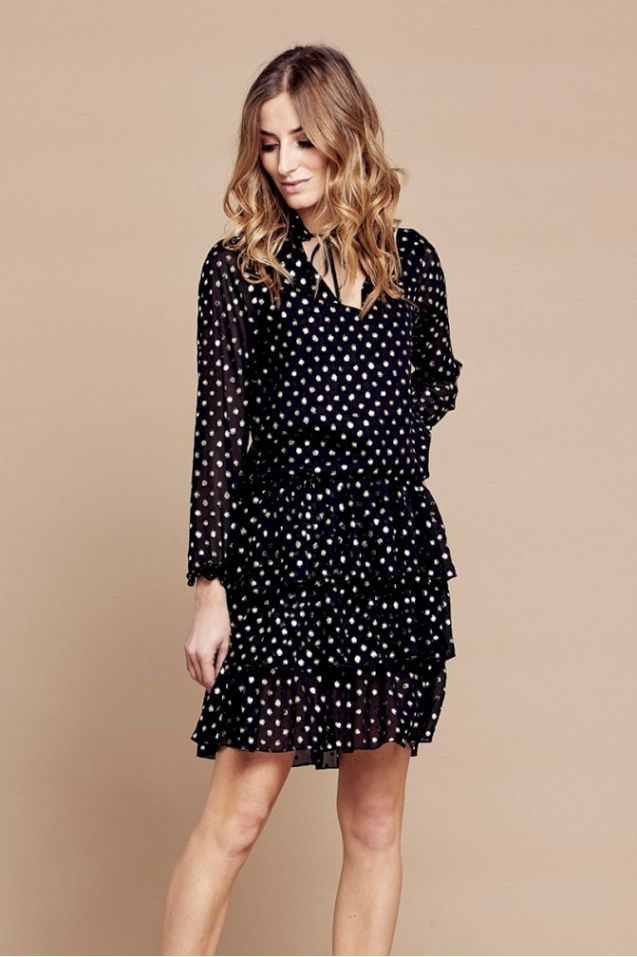 Gold Dots Dress